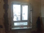 Монтаж пластиковых окон по пр.Ленина в Запорожье (окна Steko+каменные подоконники)